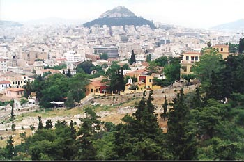 Lykavittos Hill - the second of 2 hills in Athens - the other is the Acropolis hill