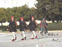 Changing of the guard in front of Athens Parliament on Sundays at 11am