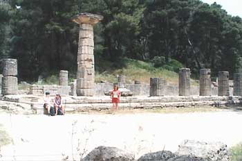 Ruins of the Treasuries at Olympia - the site of the origional Olympic Games in Greece