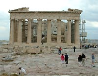 Parthenon Athens.  Imagine how this would have looked when newly built and pristine white marble shining in the sun, surrounded by equally magnificent temples and associated buildings.