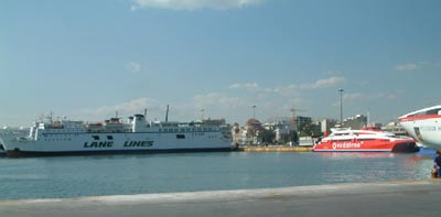 The port of Piraeus in Athens, Greece, with ferries to the islands and other destinations